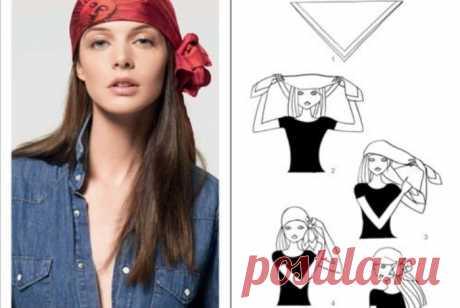 Как носить платок на голове, фото
