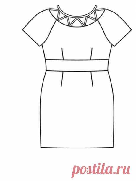 Платье-футляр - выкройка № 123 В из журнала 7/2016 Burda – выкройки платьев на Burdastyle.ru