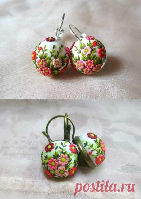 Spring that never goes away earrings White Earrings Anniversary Present for Her Birthday gift for Her Romantic gift for Her