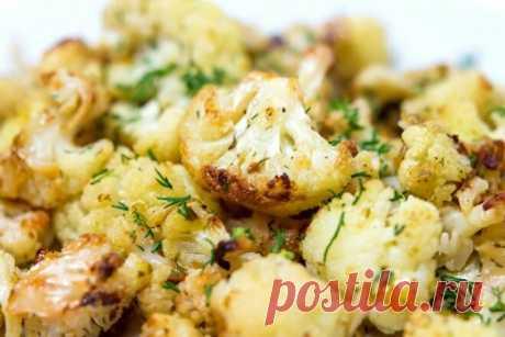 Легкая цветная капуста с сыром в духовке, рецепт с фото — Вкусо.ру