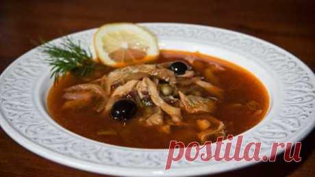 Грибная солянка - рецепт приготовления с фото