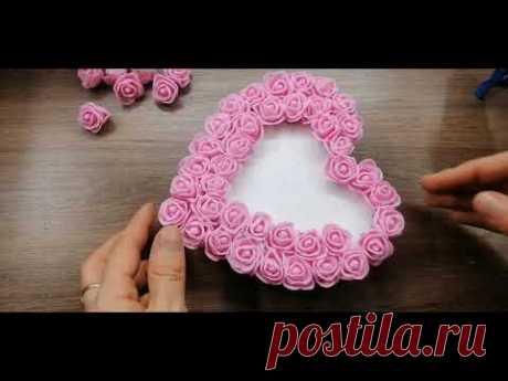 3D сердце из розочек/Идея подарка на День Валентина/3DHeart