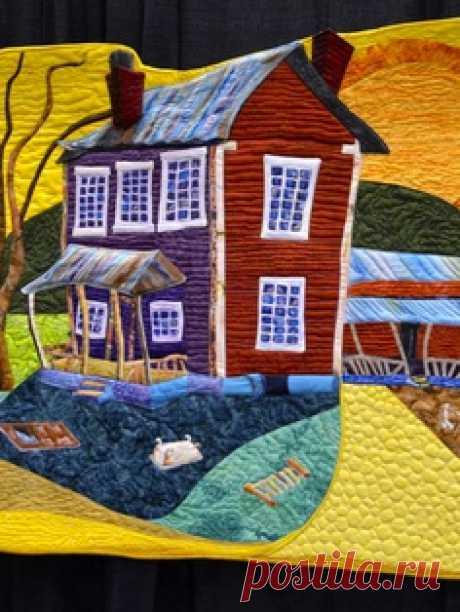 Лоскутное шитье, фото - домики / Пэчворк, лоскутное шитье. Мастер класс для начинающих, схемы / Лунтики. Развиваем детей. Творчество и игрушки