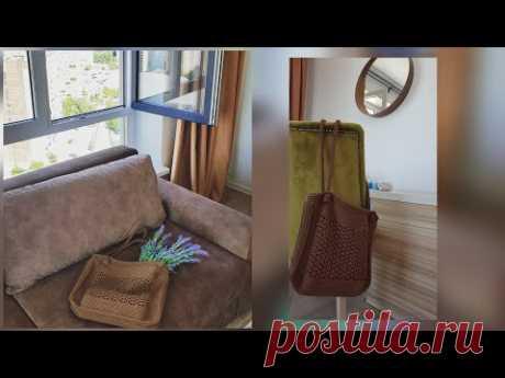 Вяжем стильную сумку-шоппер для пляжа и города 🏖🏣 crochet pattern.
