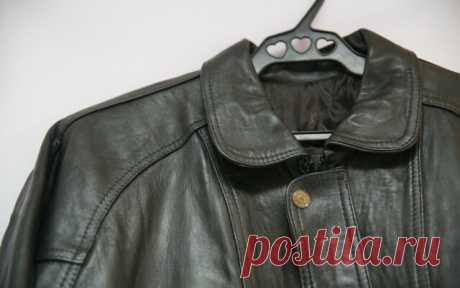 Как разгладить мятую кожаную куртку? — Полезные советы