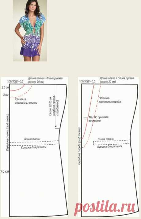 Patterns of tunics of any size - we sew quickly and easily