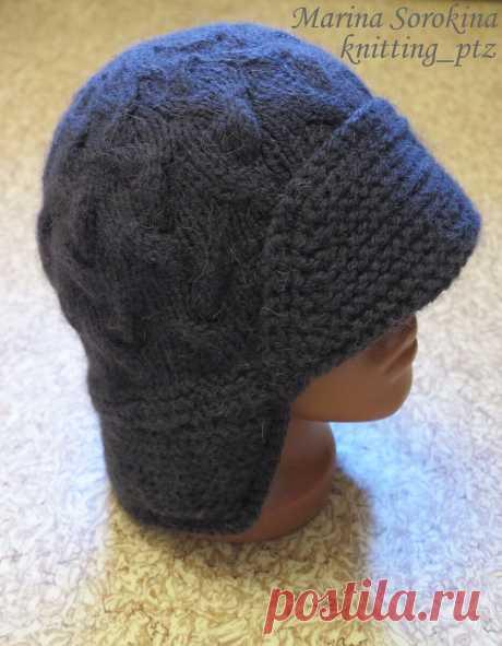 Мужская шапка с козырьком | Домашние зарисовки | Яндекс Дзен