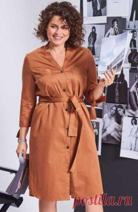 Платье рубашка #Готовые_выкройки на размеры 44-52 евро