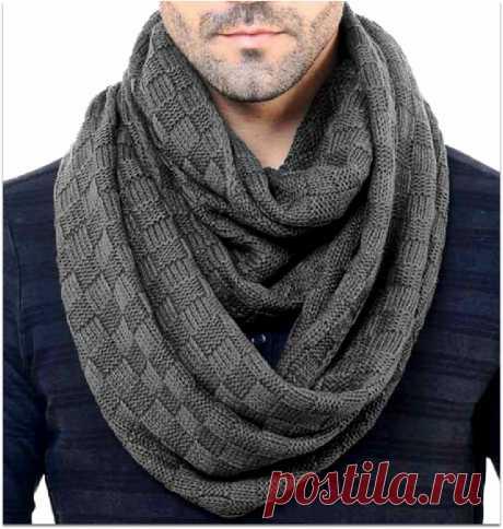 Что связать в подарок, если ты — новичок: 5 идей простых мужских шарфов спицами и немного советов | Paradosik_Handmade | Яндекс Дзен
