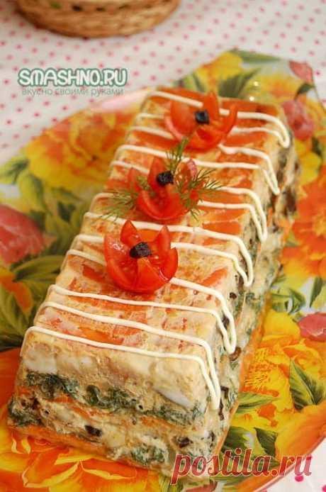 Рыба с овощами и черносливом в духовке - рецепт