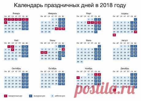 """Правительство России on Twitter """"Утвержден календарь рабочих и праздничных дней на 2018 год"""""""