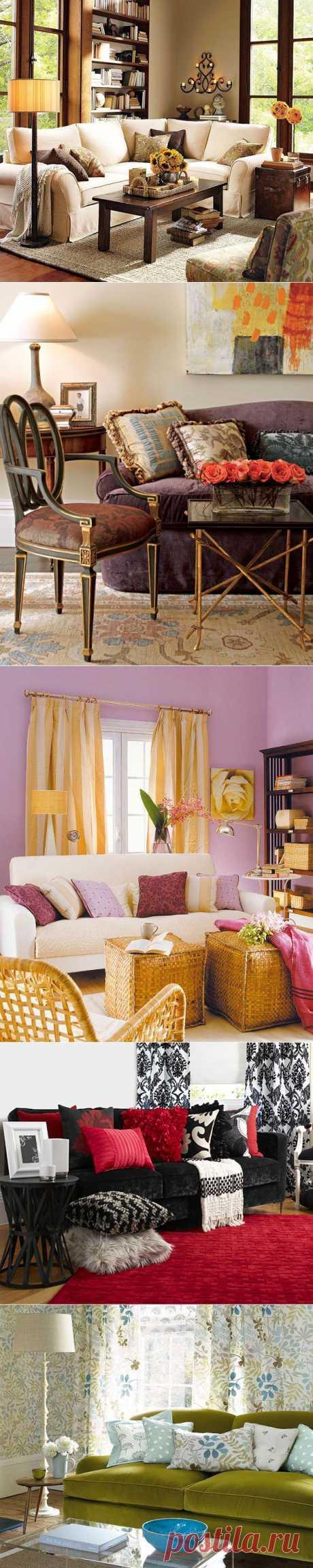 Как выбрать диван в гостиную. Диван в интерьере гостиной