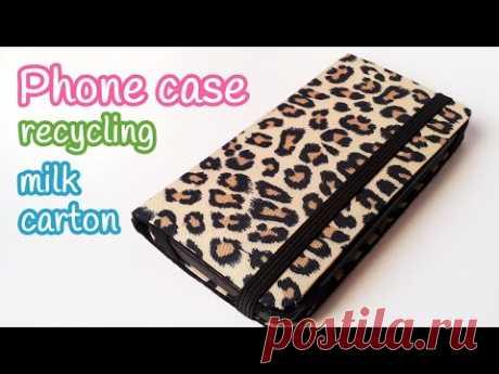 DIY crafts: PHONE CASE recycling milk carton - Innova crafts