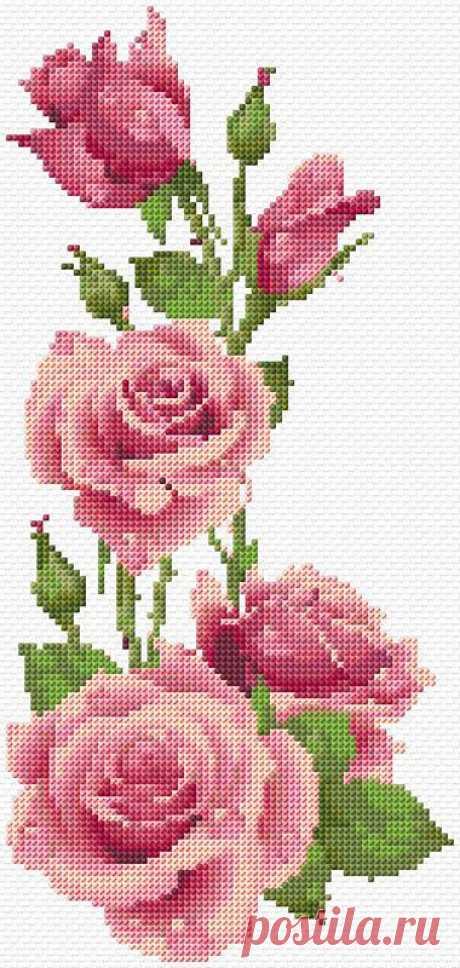 Розы ~ 14 схем для вышивки