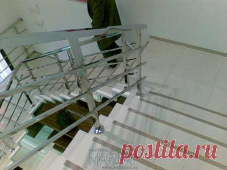 Лестницы, ограждения, перила из стекла, дерева, металла Маршаг – Нержавеющие ограждения лестниц