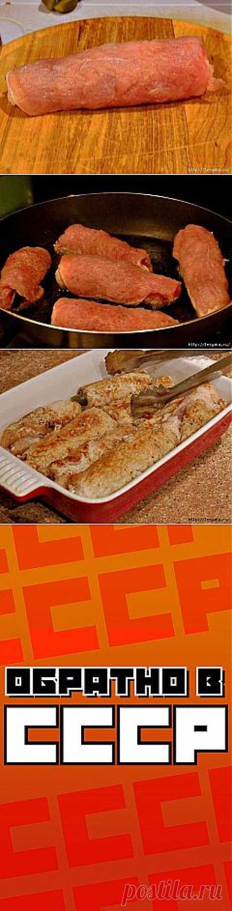 Вкусные огурчики в мясной «шубе»