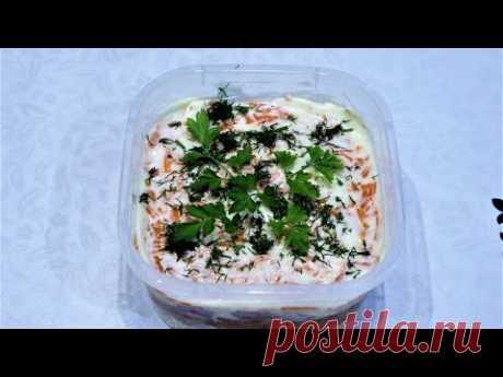 Рыбный салат с килькой в томате / Очень вкусный и быстрый салат из рыбных консервов и фасоли