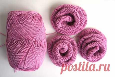 Цветок-украшение спицами. / knitt.net