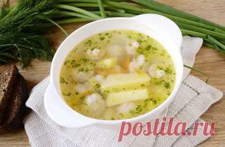 Восхитительный картофельный суп с фрикадельками Готовим ароматный картофельный суп с фрикадельками из нежного домашнего фарша