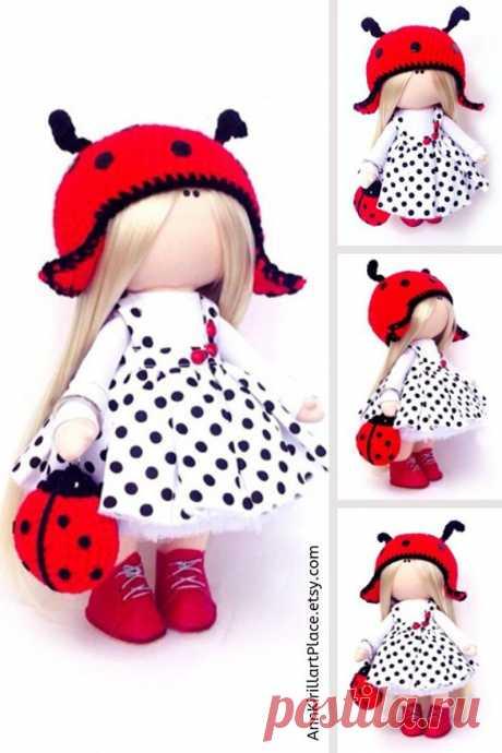 Birthday Girl Gift Nursery Art Doll Summer Love Gift Rag | Etsy