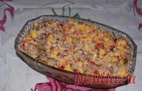 Этот салат нравится всем без исключения — Салат ″Екатерина″… Вкуснейший салат!Как приготовить вкусный салат Ингредиенты: соленые огурцы — 2-3 штуки, кукуруза консервированая — 1 банка, красный болгарский перец — 1-2 штуки, консервированные шампиньоны — 1 банка,…
