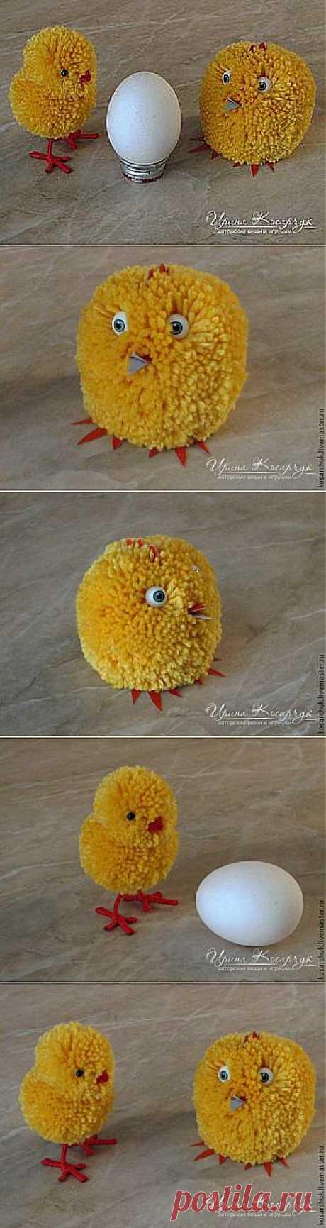 "Master class: ""Пасхальные chickens from помпонов"" - A fair of Masters - handwork, handmade"