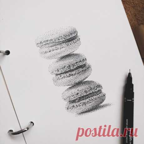 Научиться рисовать точками легко | Полезный блог о рисовании | Яндекс Дзен
