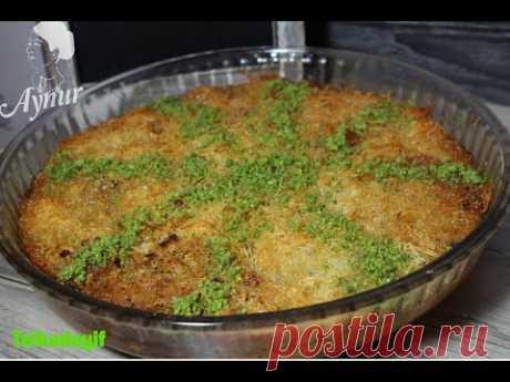 Türkische Süßspeise telkadayif mit Walnüssen- Cevizli telkadayif tarifi