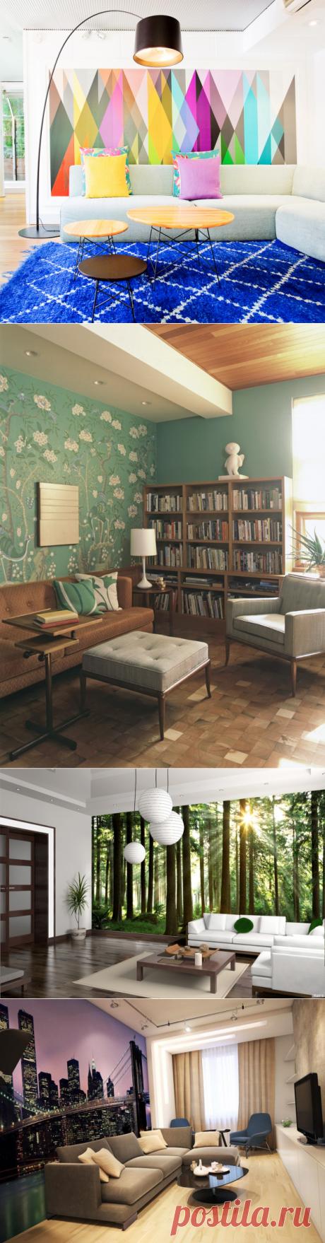 В границах уюта и стиля: обои в гостиную – как выбрать правильно — Дом и Сад