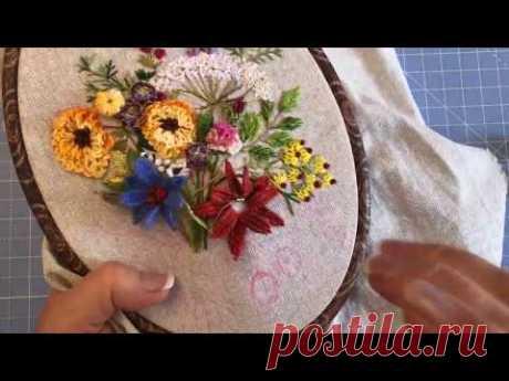 Плетеный шов или плетем лепестки ( Woven picot.)