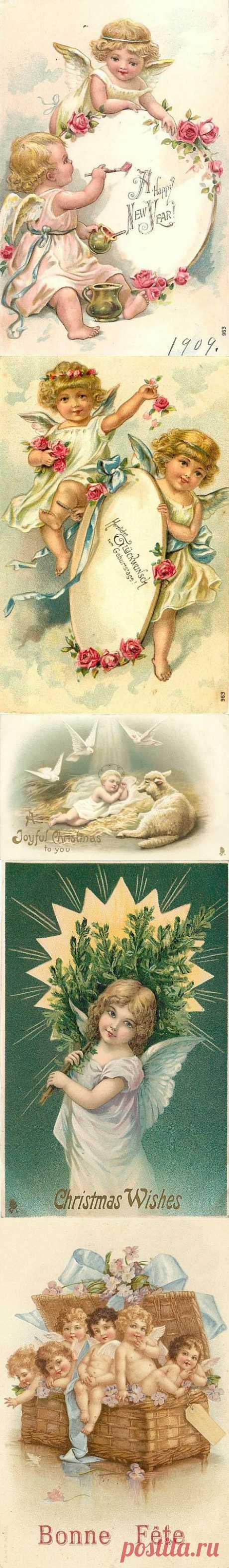 Картинки для декупажа. Рождественские ангелочки / Декупаж. Работы пользователей / PassionForum - мастер-классы по рукоделию