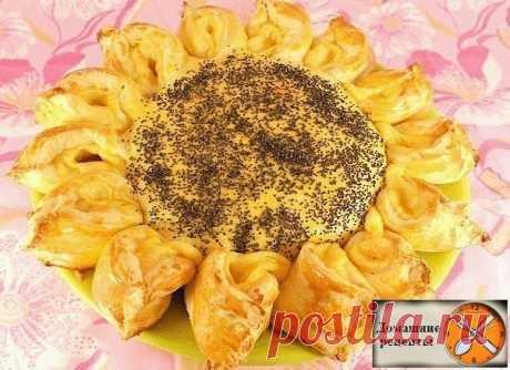 Пирог с мясом и сыром «Подсолнух»