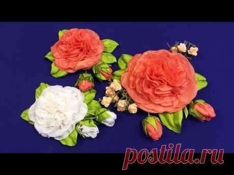 Fabric flowers.Hollyhock/Malva rosea de  la tela/Шток-роза из ткани