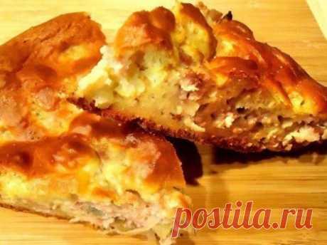 Легкий и быстрый в приготовлении пирог с мясом