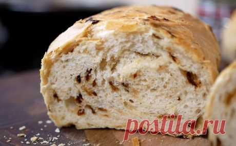 Белый хлеб с луком по рецепту цыганки Галины