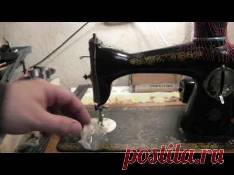 La máquina barata de coser para el trabajo con la piel (Podolsk). Cheap sewing machine for working with leather