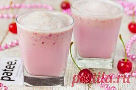 Вишнёвый молочный коктейль - рецепт с фотографиями