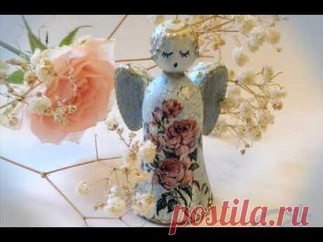 Ангелочек на елку: мастер-класс Натальи Жуковой по декупажу и декору елочной игрушки.