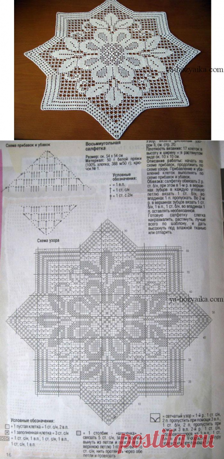 Octagonal napkin