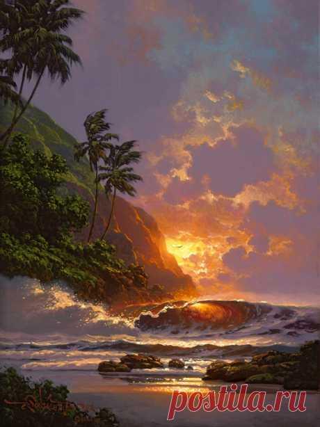Морские пейзажи гавайского художника Roy Tabora
