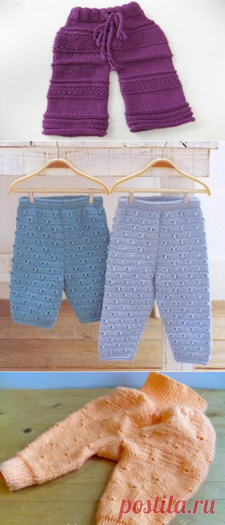 Вязание спицами штанишек для новорожденных - схемы вязания для начинающих