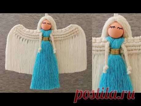 Ангел в голубом платье, макраме