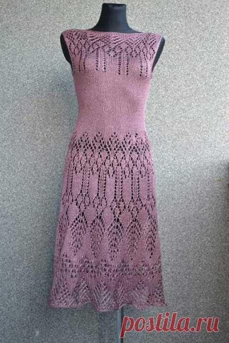 Платья спицами. Идеи  Источник: https://www.pinterest.com/