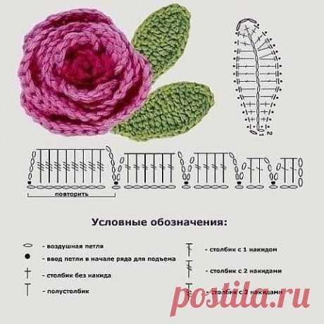 Объемный цветок можно связать крючком! из категории Интересные идеи – Вязаные идеи, идеи для вязания