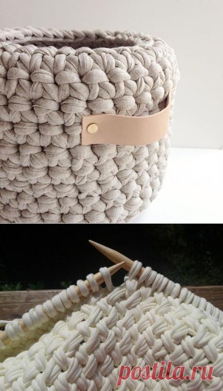 57 идей для вязания из трикотажной пряжи | Записки вязальщицы | Яндекс Дзен