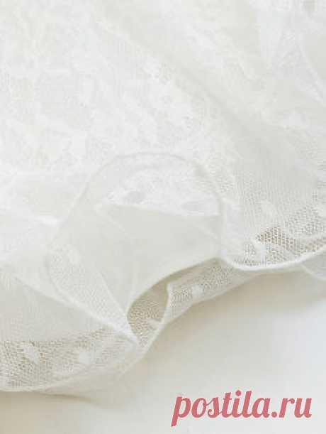 Pierced Lace Mini Dress
