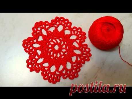 Красивый мотив крючком. Beautiful crochet motif.