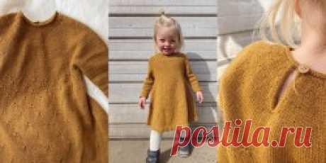 Детское платье спицами Dandelion - Вяжи.ру