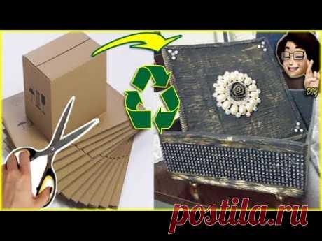 DIY | Kartondan Yaptığıma İnanamayacaksınız | Dekoratif Kutu Yapımı |Geri Dönüşüm, Recycle idea - YouTube Merhaba. Atölyeme hoş geldiniz 🖐Bugün sizlere, kartondan ve kağıttan sanat olur mu?  kartondan, dekoratif kutu, mücevher kutusu yapımı, geri dönüşüm ( recycle ) fikri ile geldim. Bu tarz kutuları her yerde kullanabilirsiniz, bohça için, hediyelik kutu olabilir, dekoratif amaçlı olabilir. Bu videodan sonra kendiniz yapabilirsiniz ( you can do it yourself after this video)