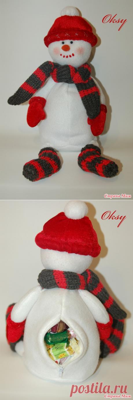 Сладкий снеговик полный подарков — DIYIdeas
